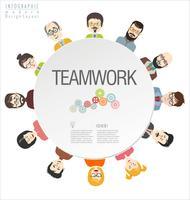 """Infographic di progettazione moderna di concetto di affari di """"brainstorming"""""""