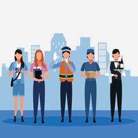Set di lavori e occupazione vettore