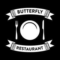 Distintivo e logo del ristorante, ottimo per la stampa vettore