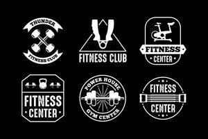 Badge e logo fitness, ottimo per la stampa vettore