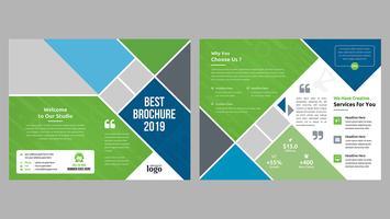 Design brochure pieghevole vettore