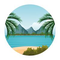 cartone animato paesaggio di mare