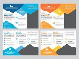 Modello di progettazione brochure ripiegabile
