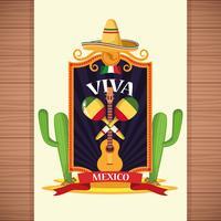 Cartoni animati di carte Viva Mexico