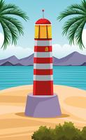 cartone animato paesaggio di mare vettore