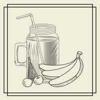 Bevanda frullato di frutta vettore