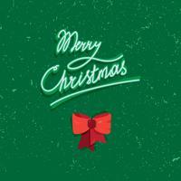 Iscrizione scritta a mano del testo dell'annata di buon Natale vettore