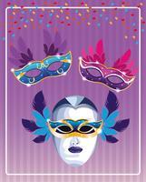 Maschere di Mardi Gras