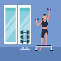 donna fitness facendo esercizio