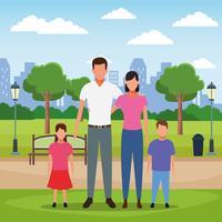Cartone animato di persone di famiglia vettore