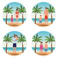 vacanza in spiaggia famiglia