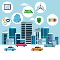 concetto di posizione del servizio auto taxi