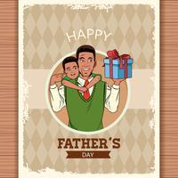 Carta di papà felice