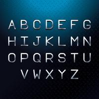 Alfabeto lettere d'argento vettore