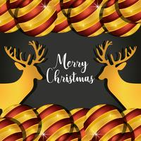 renne di buon Natale con decorazioni di palline