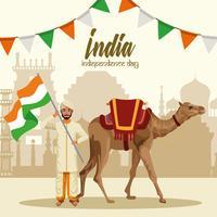 Carta di festa dell'indipendenza dell'India
