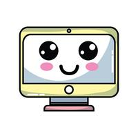 Kawaii carino monitor felice schermo
