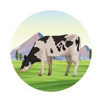 Animale da fattoria mucca vettore