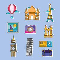 impostare i paesi delle vacanze di viaggio alla visibilità