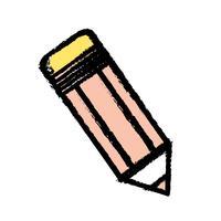 disegno a matita strumento scuola oggetto