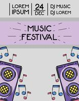 concerto di musica evento rock festival vettore