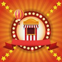Emblema colorato festival del circo vettore