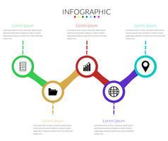 Vettore moderno del cerchio di Infographics