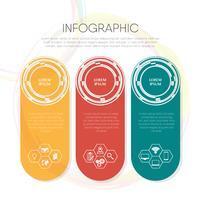 Modello struttura infografica con icona vettore