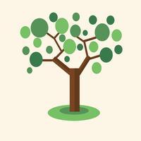 albero verde eco vettore