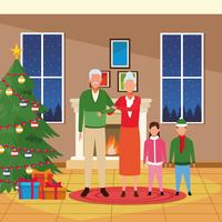 Buon Natale in famiglia vettore