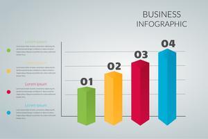 grafico commerciale Infografica vettoriale