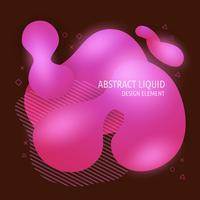 Elementi liquidi astratti moderni di progettazione di forme fluide. Banner colorato gradiente brillante dinamico vettore