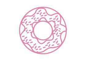 Icona di ciambella rosa vettore