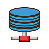 archiviazione dati tecnologia hard disk vettore