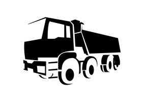 Design del logo camion carico vettore