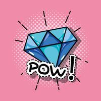 disegno di patch pop art diamante vettore