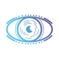 linea occhio virtuale nel gioco di realtà del cyberspazio vettore