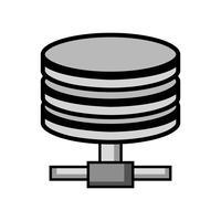 archiviazione dei dati con tecnologia disco rigido in scala di grigi vettore