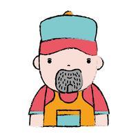 scarabocchio uomo lavoro idraulico per riparare riparazione