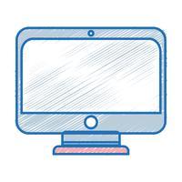 monitor tecnologia dello schermo con apparecchiature elettroniche