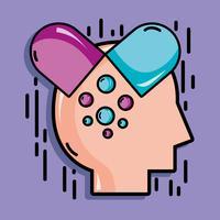 psicologia analisi terapia ispirazione design vettore