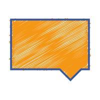 bolla di colore chat note messaggio di testo vettore
