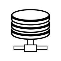 archiviazione dati linea tecnologia hard disk vettore