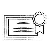 figura certificato di diploma di laurea con cornice in legno vettore