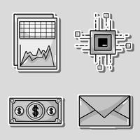 imposta la tecnologia di sicurezza blockchain con il data center vettore