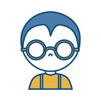 uomo con icona di occhiali