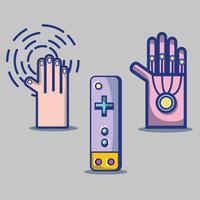 impostare la tecnologia console console videogioco 3d vettore