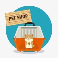 Design del negozio di animali. vettore
