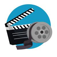 icone di produzione cinema batacchio vettore