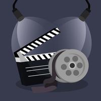 Icone di produzione cinematografica vettore